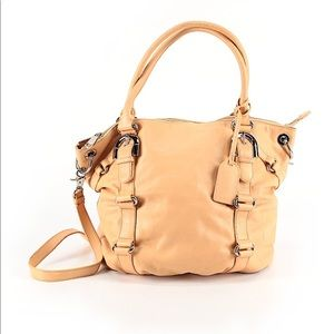 American glamour 💯 leather bag peach large